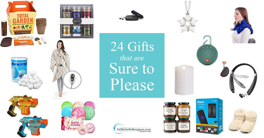 A list of 24 gifts sure to please that someone special on your shopping list.
