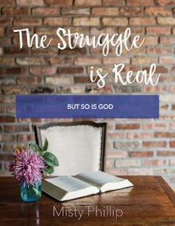 A 6-week Bible Study that helps you experience just how real God is and know that He is right there with you in the middle of it all.