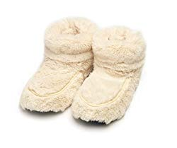 Fully microwavable furry boots