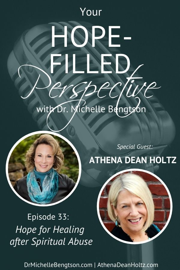In this episode, I speak with Athena Dean Holtz about spiritual abuse. If you've ever been abused by someone in the church, been manipulated by the church, been under abusive authority within the church, or want to know how to avoid all the above, then this show is the perfect show for you.