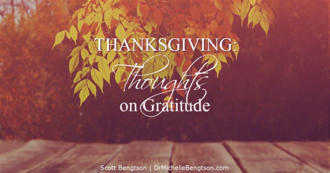 Thoughts on gratitude and why Thanksgiving is the best holiday.