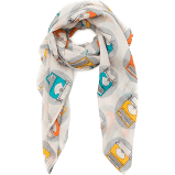Typewriter Scarf - Literary and Book-Themed Lightweight Scarf
