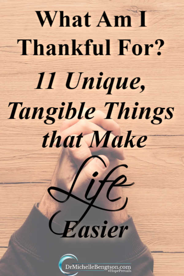 I'm thankful for the significant things like family, friends, and health. But, I'm also thankful for tangible things. This list of things I am thankful for makes my life easier or better. Tangible things I use regularly and are in some way unique.