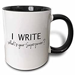 I Write: What's Your Superpower Coffee Mug