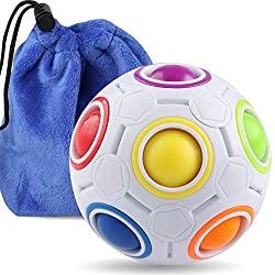 Rainbow puzzle ball fidget toy