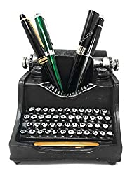 Retro typewriter pencil holder