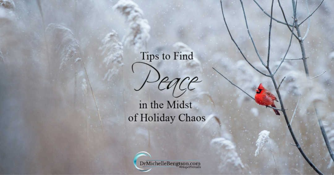 Using these three tips, we can find peace in the midst of holiday chaos.