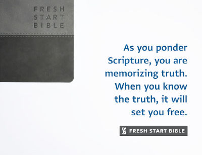 As you ponder scripture you are memorizing truth