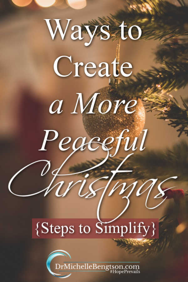 Use these tips to simplify and create a more peaceful Christmas. Let go of the overwhelm and anxiety that often accompanies the holidays and enjoy more peace during the holiday season and throughout the year.