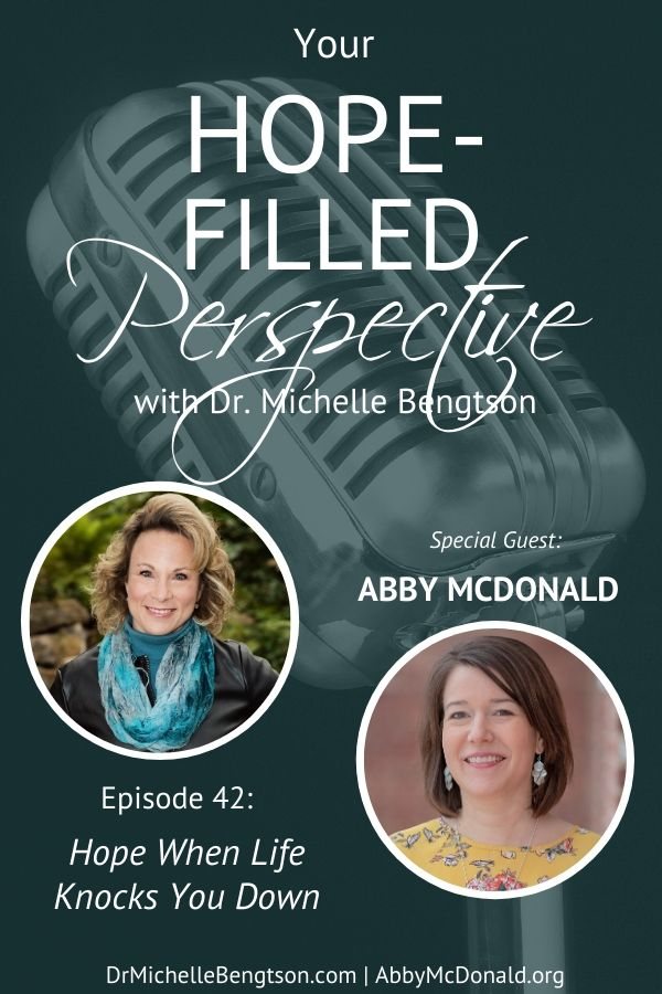 In this podcast episode, my friend, Abby McDonald shares with us how she finds hope in Christ in the midst of life's messes and struggles. When life knocks you down, you can still maintain your hope. #hope #HopePrevails #faith #encouragement #hardtimes #podcast