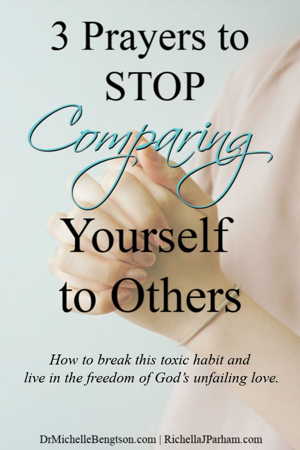 Using prayer, you can stop comparing yourself to others. The best tool to stop comparison is to ask God for help. Read more for how to break this toxic habit and learn to live in the freedom of God's unfailing love. #God #faith #Christian #prayer