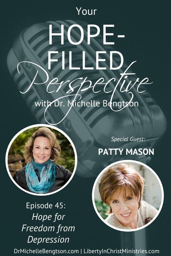 If you have ever struggled with depression or loved someone who struggles, this episode is the perfect show for you. We talk about how my guest, Patty Mason, was able to break the bonds of depression and wants to offer that same hope to you. Because of Him, #HopePrevails! #depression #mentalhealth #hope