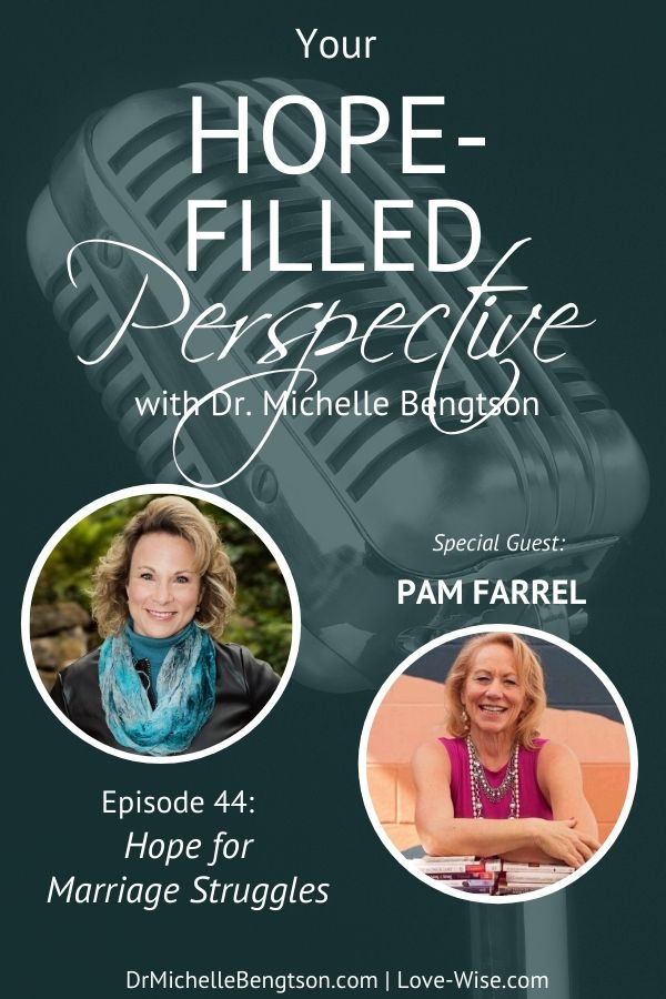 Relationships are hard! If you've ever had marriage struggles or you want to improve your marriage, join me with Pam Farrel for how to grow your love for your mate. You can thrive, not just survive, in marriage! #podcast #marriageadvice #Christianmarriage