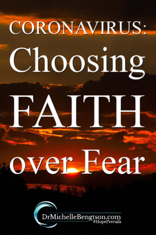 Panic and fear surrounding the Coronavirus have swept the country. Yet, we have the option to choose faith over fear by trusting God instead. Read more for trusting God in all things so we can spread the good things like kindness, love and hope. #Coronavirus #faith #fear #worry #anxiety