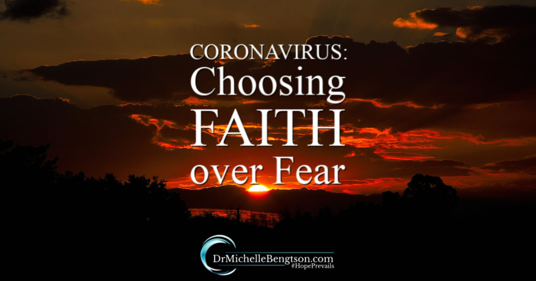 Fight the Coronavirus panic! Choose faith over fear by trusting God in all things.