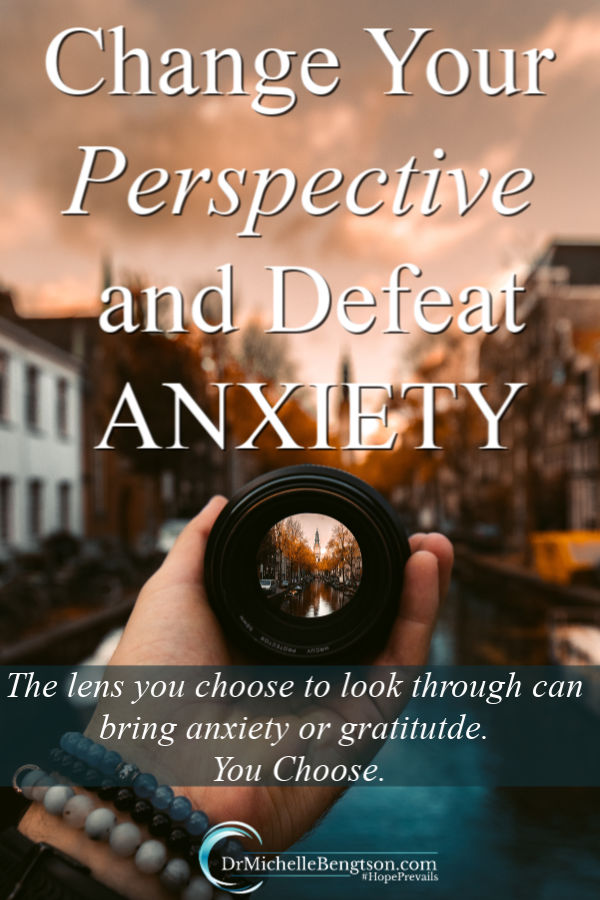Changing your perspective is one way to defeat anxiety. The way you look at your current situation can leave you feeling powerless, out of control and anxious. Or, it can open the door to peace and joy. Read more about changing your perspective to defeat anxiety.  #anxiety #fear #worry #mentalhealth