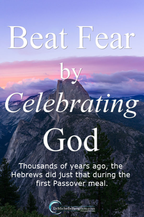 Sometimes we beat fear by celebrating God through a feast just like the Hebrews did thousands of years ago during their first Passover Meal. It was the final plague and the Hebrews knew that Pharaoh would be personally affected. How would they overcome fear? #fear #trustGod #God