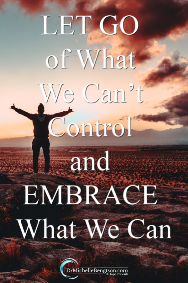 Anxiety often arises within us when we begin to feel like things are out of control. We can defeat anxiety by letting go of things we can't control and embracing things we can control. Read more about defeating anxiety, worry and fear. #anxiety #worry #fear #mentalhealth