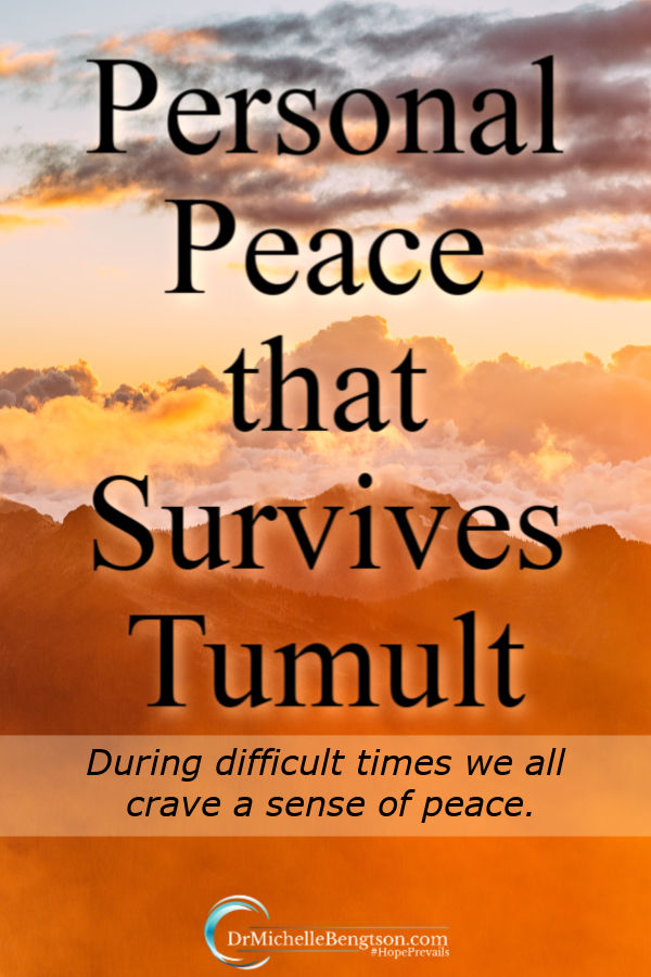 During difficult times we all crave a sense of peace. Many tell us about God's peace, but we hear little about His provision of personal peace and tranquility during tumultuous times. But, when we meet with Him we learn He knows us. Uniquely. He provides. #peace #mentalhealth #hope #faith