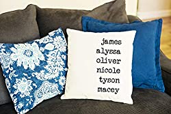 Decorative pillow cover that can be personalized makes a great gift!
