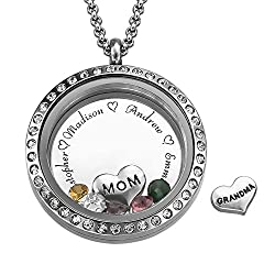 Personalized Birthstone Charm Necklace