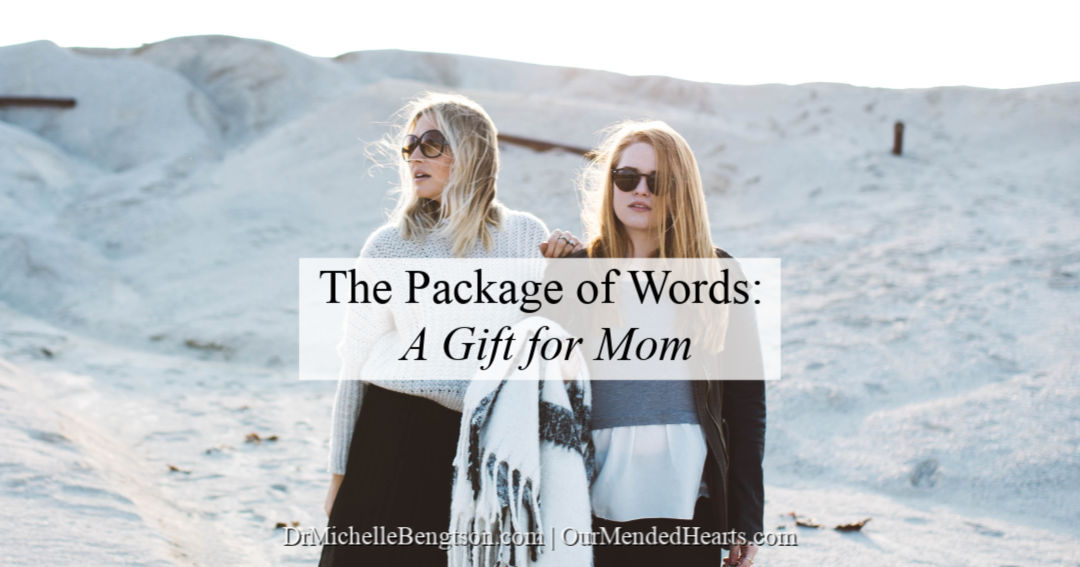 Package of words, the perfect gift for mom