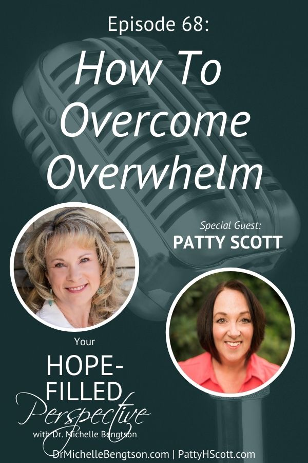 If we're not careful handling the busyness of life, burnout can ensue. So, slow down, mama. Even Jesus took time off. In this podcast episode, my guest, Patty Scott, and I talk about how to overcome overwhelm. #overwhelm #faith #rest