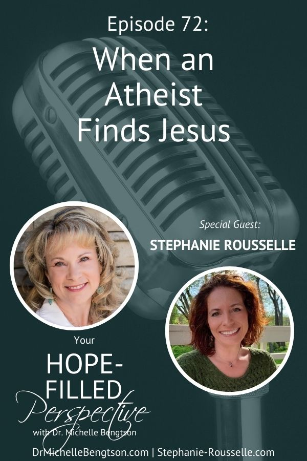 Not everyone is fortunate enough to grow up with a solid spiritual foundation. My guest today was an atheist until her young adult years. Then, she found Jesus. If you've prayed for someone's salvation, this episode will encourage you. #Jesus #salvation #hope