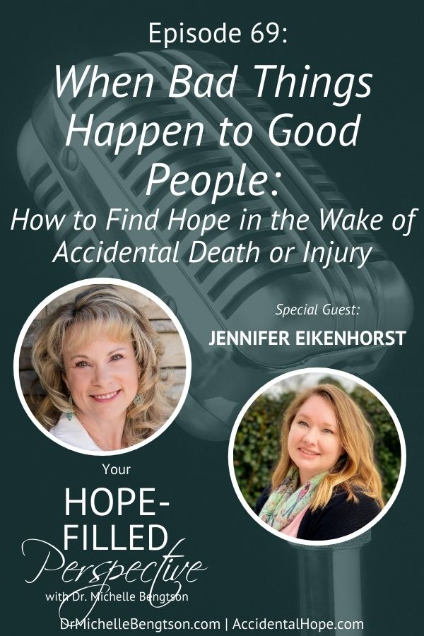 Jennifer Eikenhorst's life changed in an instant when she was involved in an accident that killed another individual. She shares about the struggles of a moral injury and how to find hope in the wake of accidental death or injury. #trauma #findinghope #accidentalhope #YHFP