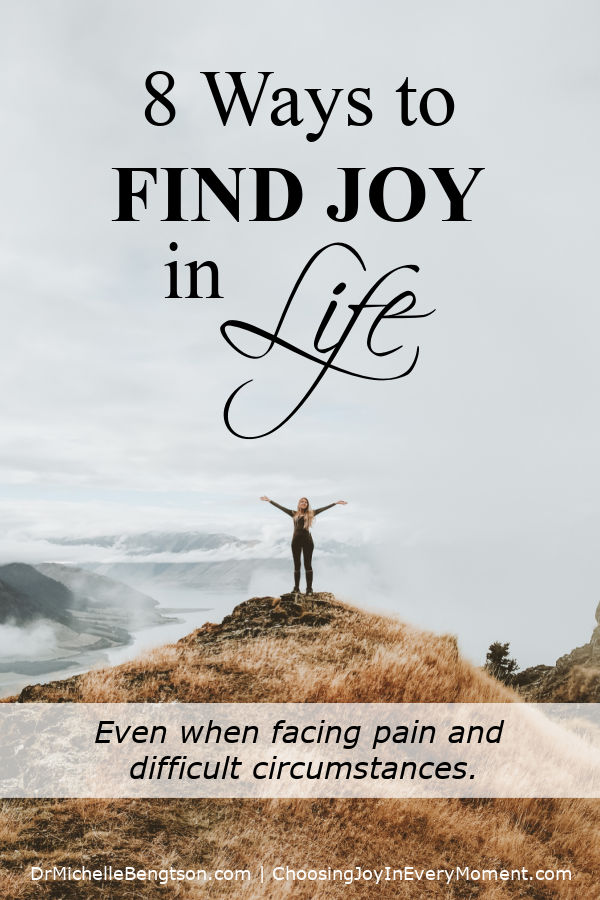 Finding joy in life in the midst of pain and difficult circumstances can be a challenge even for the well-equipped. But I have learned that looking for reasons to be joyful in the midst of hard times, can go a long way towards changing my perspective. #joy #faith #hope
