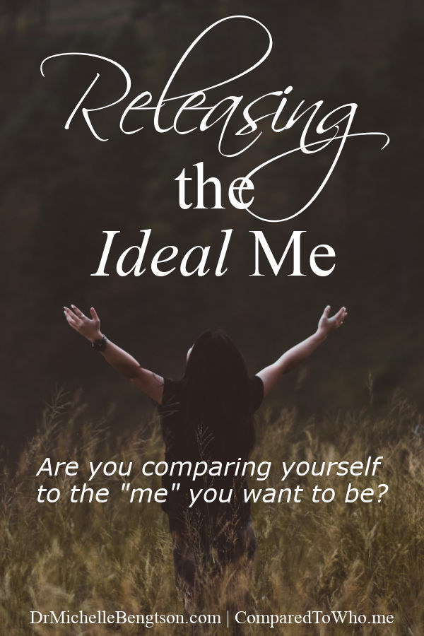 "Are you comparing yourself to the ""me"" you want to be? Trying to be the mom, wife, and woman you wish you could be? It's not always comparison with others that traps us. How do you release that ""ideal"" me to experience freedom in Christ? #hope #comparison #Christianity"