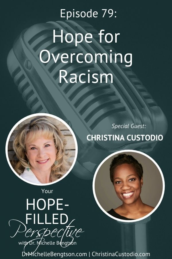In this podcast episode, my friend, Christina Custodio, and I had a very honest, open dialogue about the issue of racism, and what we can do to be more sensitive to the pain and insults received by our brothers and sisters of a different race. #racism #hope #Christianity