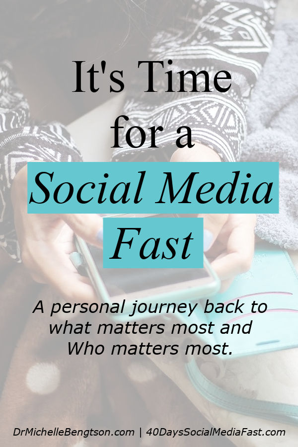 Originally, each of us may have picked up our phone as a resource to enhance life, not to consume it. But, social media sites are masterminds at cultivating addiction. Read more about beginning a journey back to what matters most and Who matters most. #socialmedia #break #fast