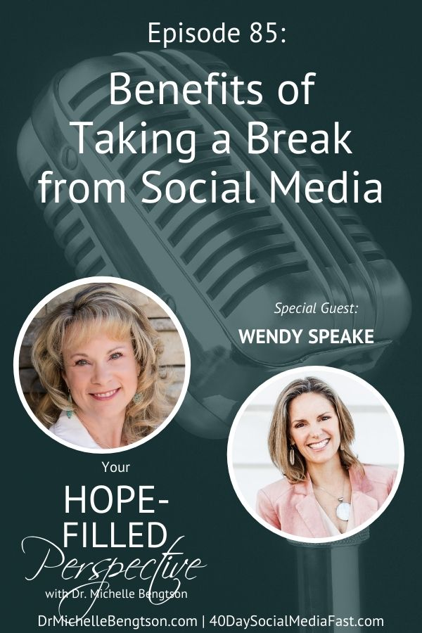 In this podcast we talk about how we can exchange our online distractions for real-life devotion. Wendy Speake shares what she has learned through her periods of social media fasting and why we all may want to consider taking a break. #podcast #socialmedia #fast