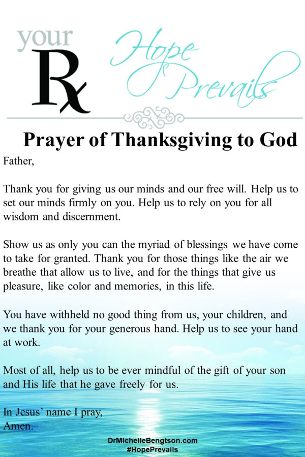 Prayer to express thanksgiving to God for His blessings. #grateful #thankful #gratitude #thanksgiving #prayer