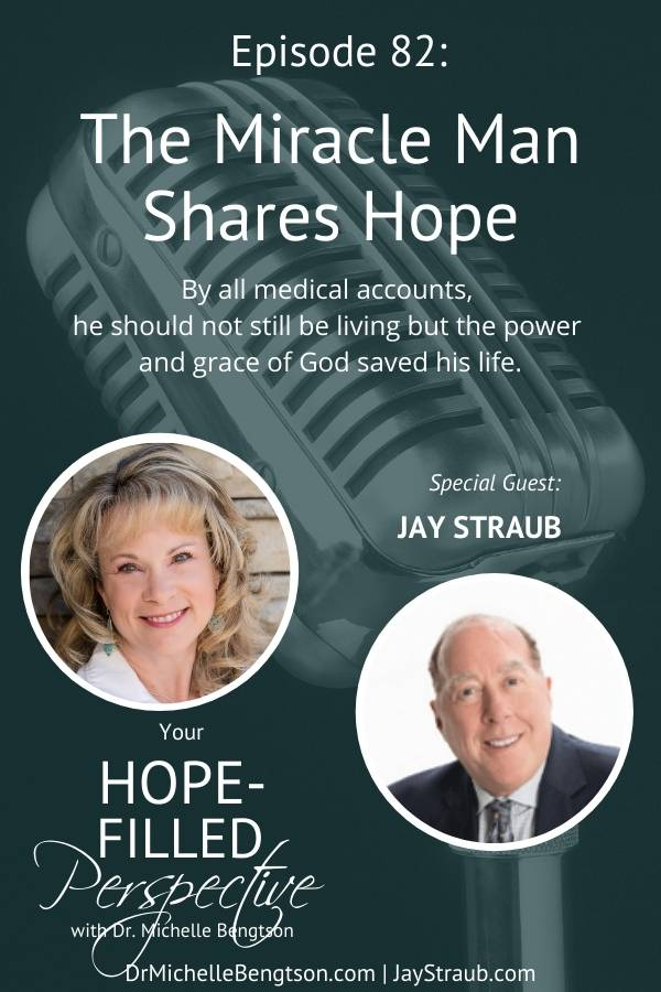 Today's podcast guest, Jay Straub, has a riveting story. He survived some harrowing ordeals in his job as a pilot before experiencing an on the job injury (traumatic brain injury) that ended his career. By all medical accounts, he should not still be living. It was the power and grace of God that saved his life, making him a true miracle man. #traumaticbraininjury #TBI #miracleman #hope #faith #podcast