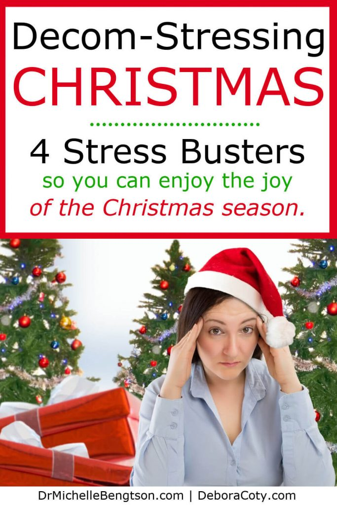During the holidays, stress seems rampant. General mayhem ensues. And, the spiritual impact of Christ's birth drowns in our to-do list. These four stress busters help us banish stress and anxiety at Christmas. #Christmas #stress