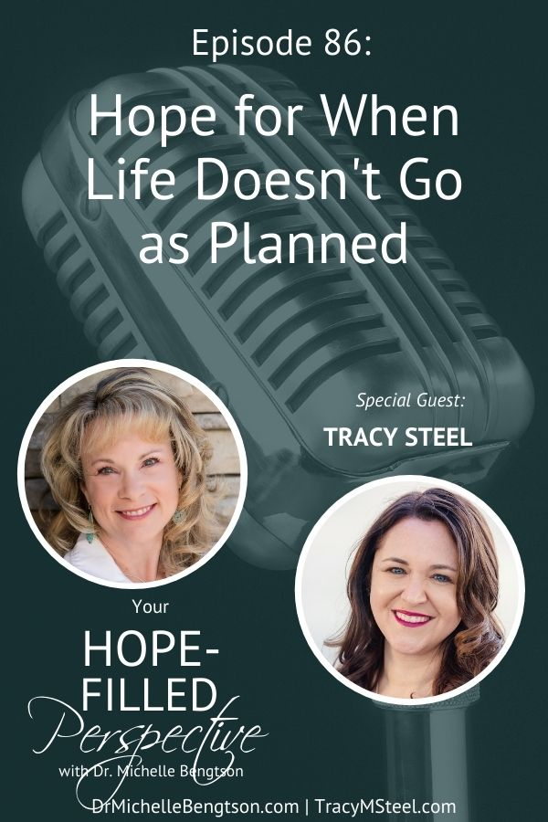 How do you find hope when life doesn't go the way you planned or hoped it would? In this episode, Tracy Steel and I talk about finding hope and God's purpose for us in hard times. #podcast #hardtimes #faith #hope #YHFP