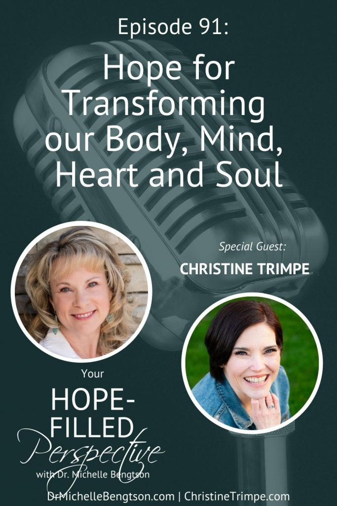 Sometimes weight loss journeys aren't about physical weight at all. In Christine Trimpe's inspiring transformation story, not only did she lose over 100 pounds, but she gained a rich relationship with her savior. Christine shares how she did it, and how you can too. #Hope for transforming our Body, Mind, Heart and Soul. #faith #Jesus