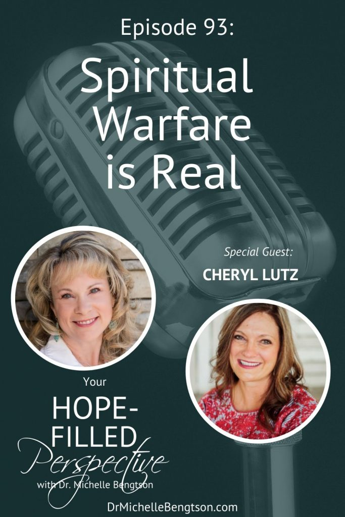 We were not born on a playground—we were born onto a battlefield. Spiritual warfare is real. In this podcast episode, my guest, Cheryl Lutz, and I talk about the reality of spiritual warfare and the fact that we can be securely held in the midst of such battles. #spiritualwarfare #prayer #Bible
