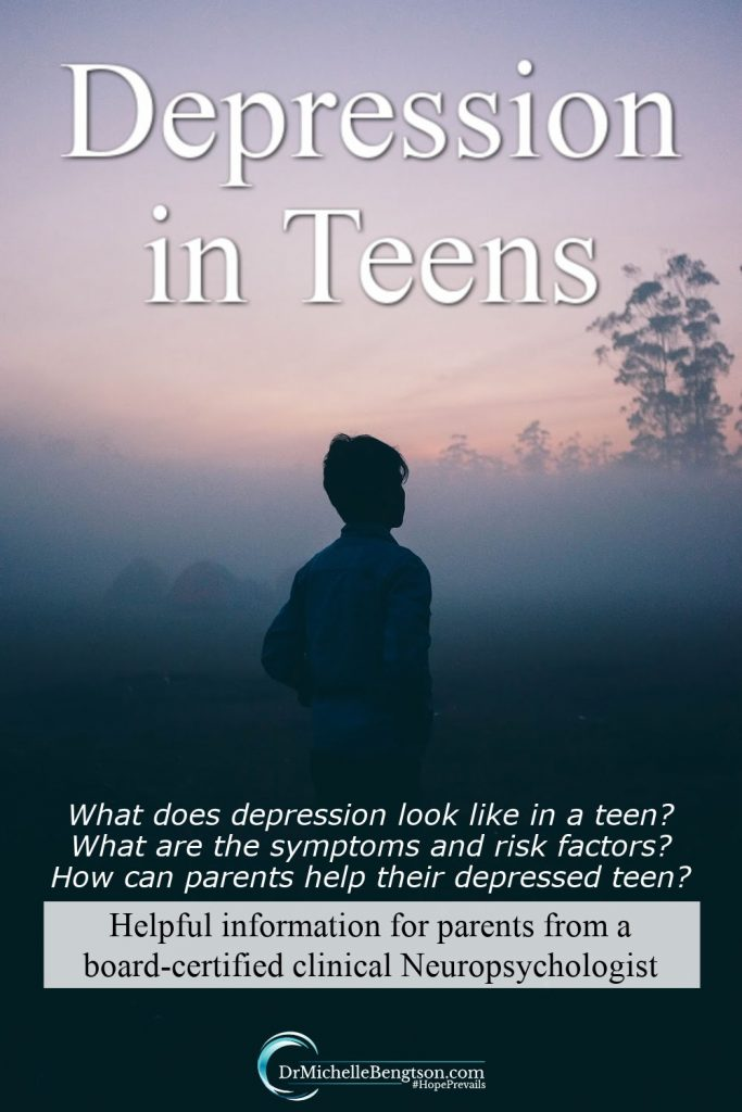 As a parent it can be difficult to know whether your teen is experiencing depression or normal teenage behavior. This post provides valuable information for parents of teens. Less than 33% of teens with depression get help, yet eighty percent of teens with depression can be successfully treated. Untreated depression in teens can have detrimental consequences. #mentalhealth #teenagedepression #hope