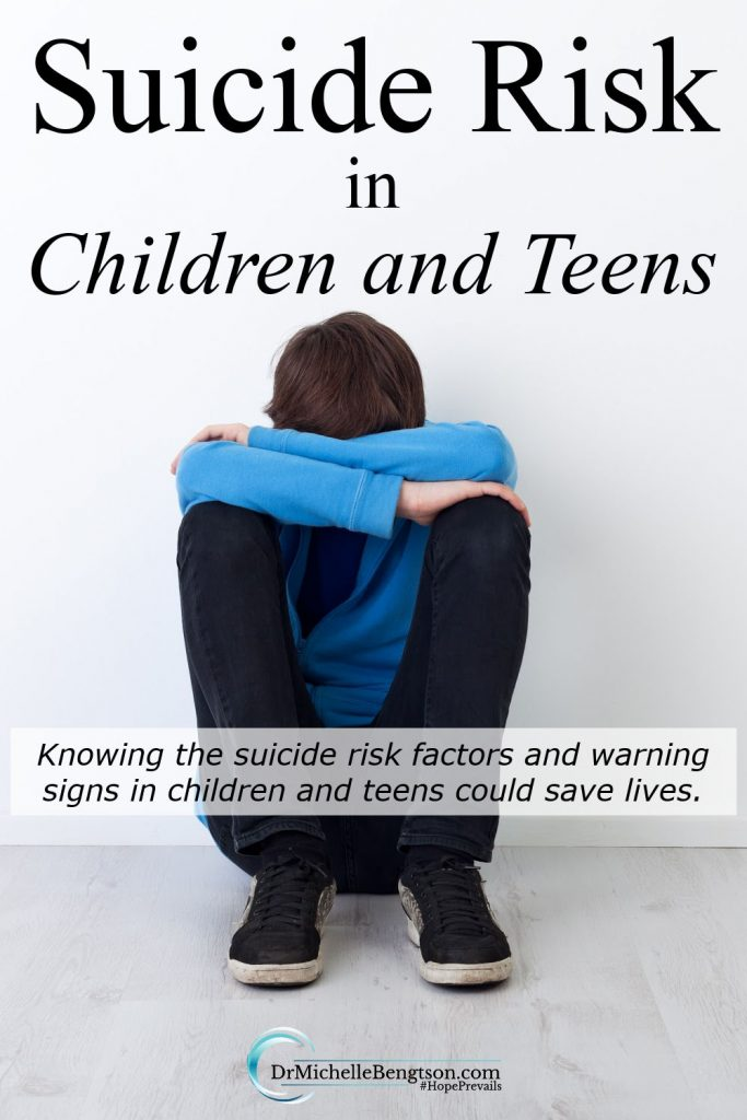 Depression always carries with it a high risk of suicide. While this discussion can be frightening, if not alarming, to some adults, there are specific risk factors and warning signs that parents can look for in their children and teens. #mentalhealth #teenagedepression