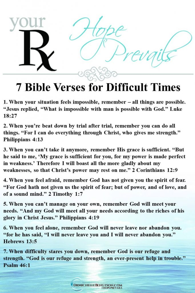 How do you keep faith in hard times? Remember these Bible verses for difficult times when the world seems like it is crashing in all around you. Read more for truths that defeat thoughts that leave you feeling defeated, alone and desperate. #Bible #Bibleverses #faith #hope #hardtimes