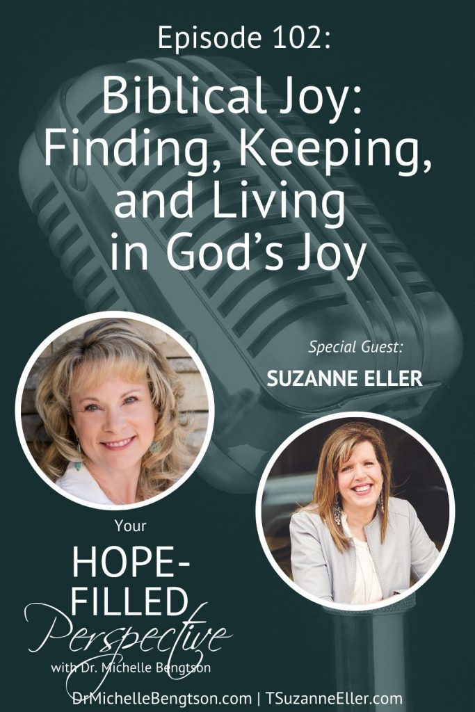 In this episode, Suzie Eller and I discuss some truths that just might change everything you thought you knew about joy. Suzie has experienced one incredibly painful trial after another. After a year of sorrow, she began to search for biblical joy. She found 6 surprising truths that helped her redefine joy, keep joy, and live joy. #joy #faith #hope #podcast #findingjoy