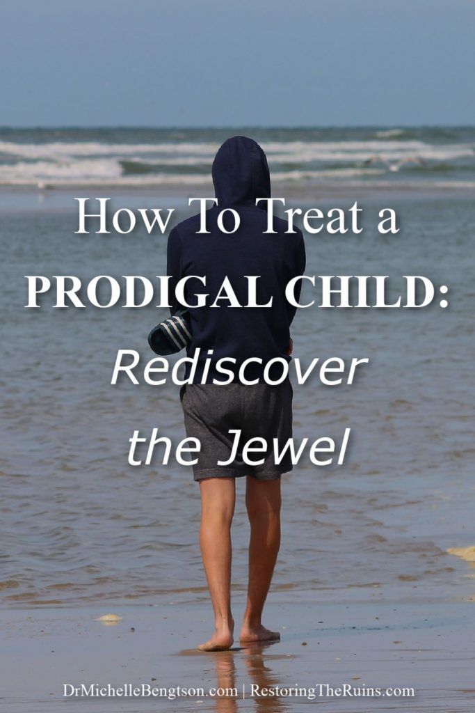 Parents of a prodigal child often suffer much pain and heartache through their experience and long for hope. My friend, Judy Slegh, learned how to treat her prodigal child so that she could rediscover the jewel in him. Her efforts were successful. She shares the life changing process the Holy Spirit led her through in today's post. #prodigal #hope #healing #parenting #faith
