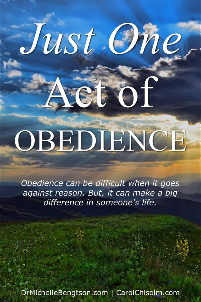 Carol Chisolm, who suffers from hair loss due to alopecia, shares how one act of obedience set her free from bondage and made a big difference in the lives of others. That simple act of obedience brought renewed life in surprising ways. #alopecia #baldness #obedience #faith #hope
