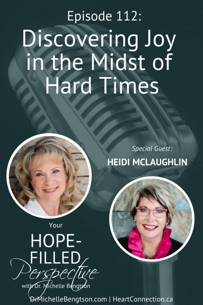 Hard times. Everyone has either faced them, they're experiencing them now, or they're headed into a hard time. Hard times often challenge our joy. In today's episode, I talk Heidi McLaughlin who experienced several hard times in a row and yet shares with us how she learned to discover joy in the midst of hard times. #findingjoy #hardtimes #joy #faith #hope