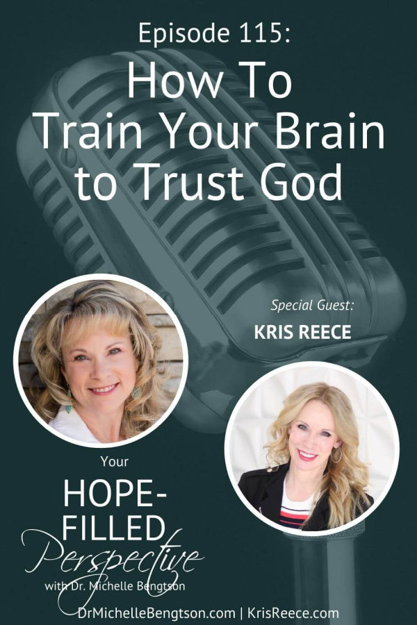 How do we take our thoughts captive? How do we renew our mind? Romans 12:2 breaks it down for us, but we tend to get it backwards. In this episode, my guest, Kris Reece, and I answer these questions as we talk about how to train your brain to trust God. #trustGod #hope #faith #podcast
