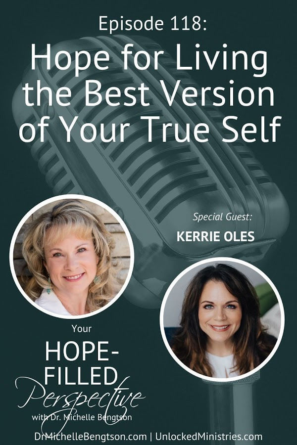 Have you ever felt you were all alone in your struggle? Or that nobody else would understand or relate? Or experienced shame from something you've done or didn't do? Then you've tuned in for the right episode. In this episode, my guest, Kerrie Oles and I talk about the hope we have for living the best version of your true self. #podcast #yourtrueself #purpose