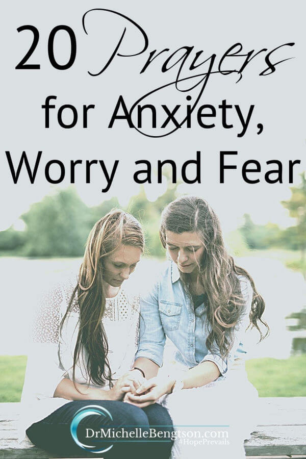 When our mind and our heart are engulfed in anxiety, it can be hard to think clearly much less know what to pray. Our prayer for you is that these prayers for anxiety, worry and fear will usher in God's peace. #prayer #worry #fear #anxiety #trustGod #faith #hope